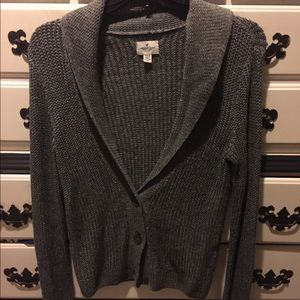 American Eagle Outfitters grey cardigan sweater